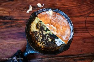 Skillet cornbread at Poogan's Smokehouse. Charleston, South Carolina
