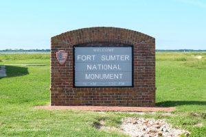 Arriving at Fort Sumter National Monument. Charleston, South Carolina