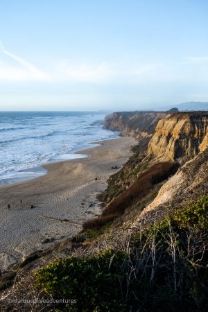 Cowell Beach - can only be accessed by walking down a half-mile trail from the parking lot. Cowell-Purisima Trail. Half Moon Bay, California