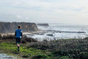 Enjoying the bluff views along the Cowell-Purisima Trail. Half Moon Bay, California