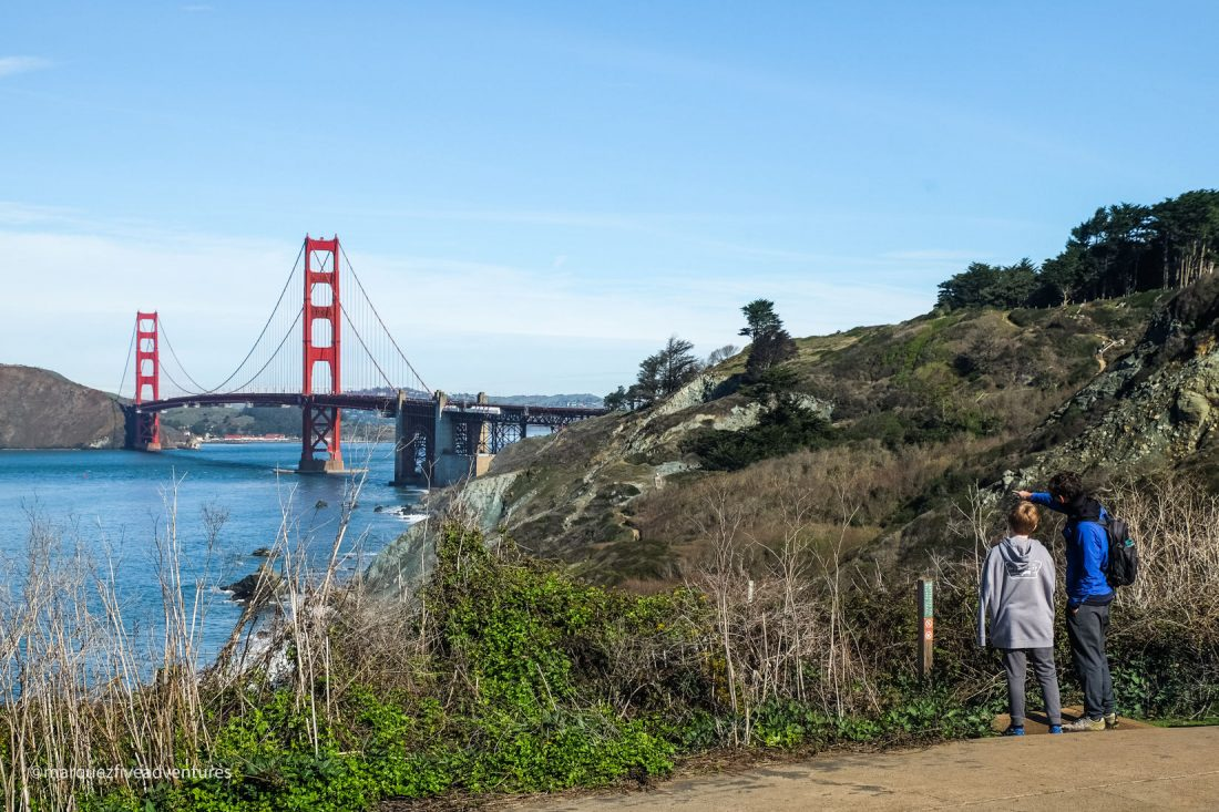 Batteries to Bluffs Trail. San Francisco, California