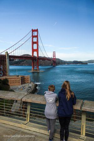 Golden Gate Bridge overlook. San Francisco, CA