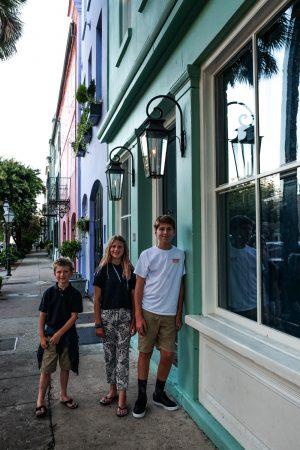Rainbow Row. Charleston, South Carolina