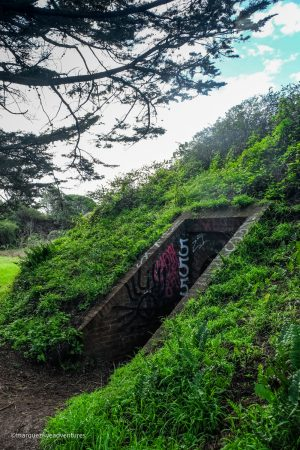 A hidden entrance to a fort. Batteries to Bluffs Trail. San Francisco, California