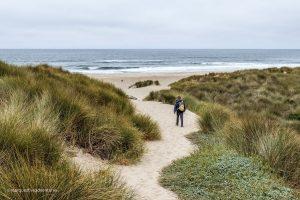 Where the trail meets the beach! Point Reyes National Seashore. California