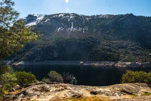 Admiring the view. Wapama Falls. Hetch Hetchy. Yosemite National Park