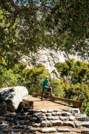 Wapama Falls Hike. Hetch Hetchy Reservoir. Yosemite National Park.