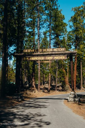 Gateway to the Hetch Hetchy. Yosemite National Park.