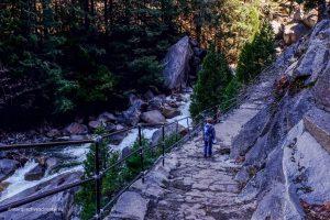The Mist Trail in Yosemite National Park, California