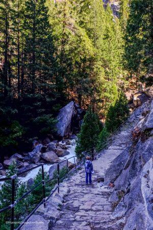 The Mist Trail. Yosemite National Park, California